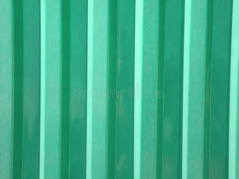 Green plastic surface