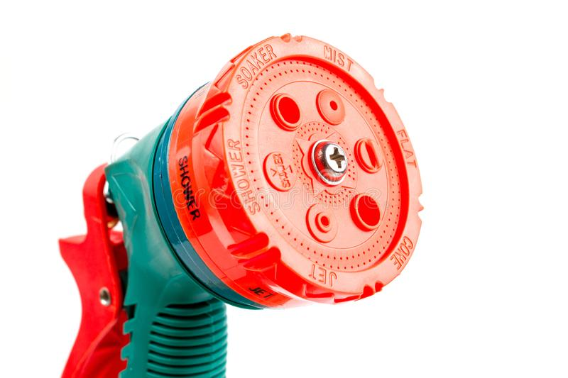 Green Plastic Watering Garden Hose Sprayer. royalty free stock images