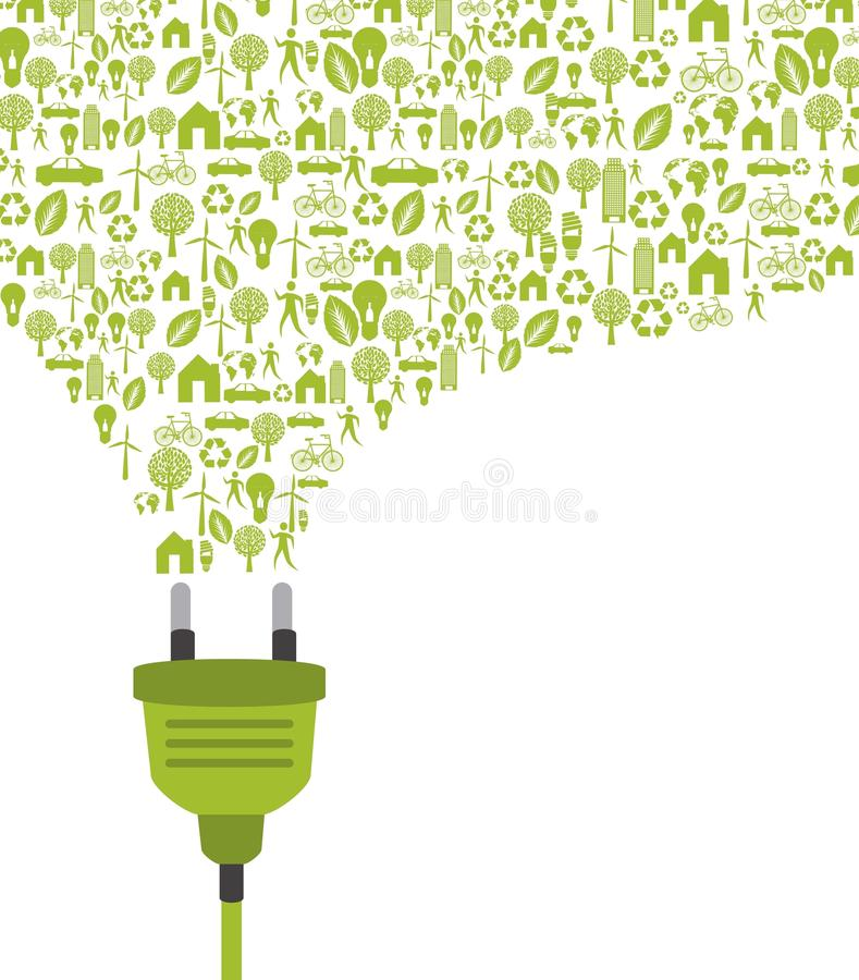 Download Green plug stock vector. Illustration of plug, painting - 27113758