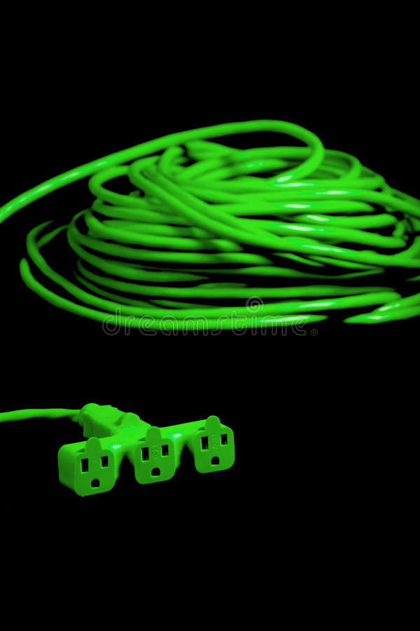 Free Green Plug Isolated On White In The Studio Stock Images - 8338114