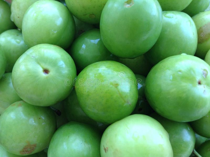 Green plum. Close up of green plums background image royalty free stock photography