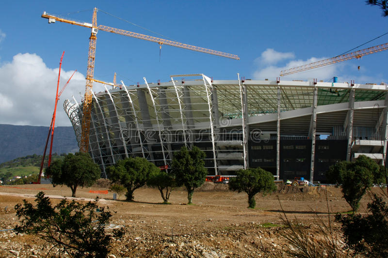 Green Point Stadium Construction royalty free stock photos