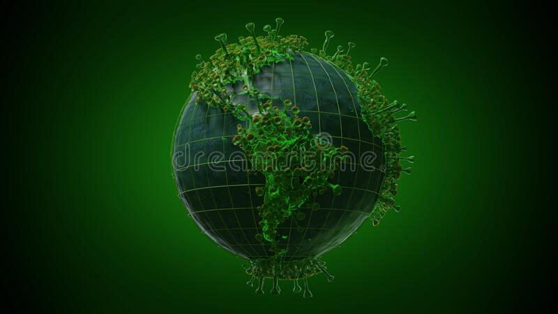 Viral World Corona Pandemic South America stock photography