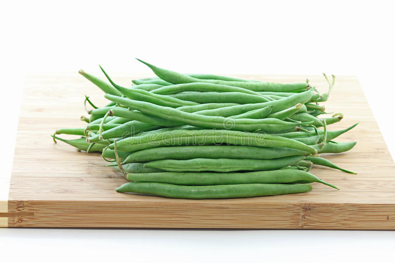 Download Green Pole Beans On Bamboo Chopping Board Stock Photo - Image of chopping, nutrition: 18433234