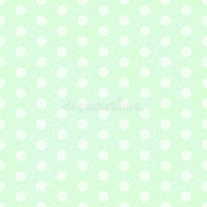 Green Polka Dot. Fabric Background that is seamless and repeats. Vector illustration stock illustration
