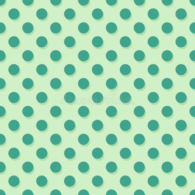 Green polka dots. Seamless texture - vector illustration stock illustration