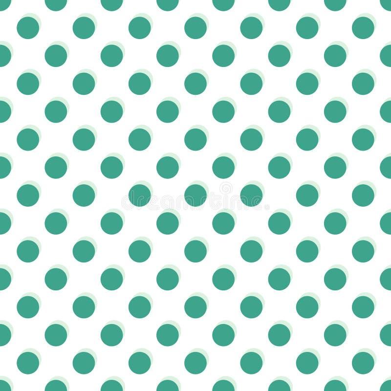 Green polka vector. Green polka dots seamless texture - vector illustration royalty free illustration