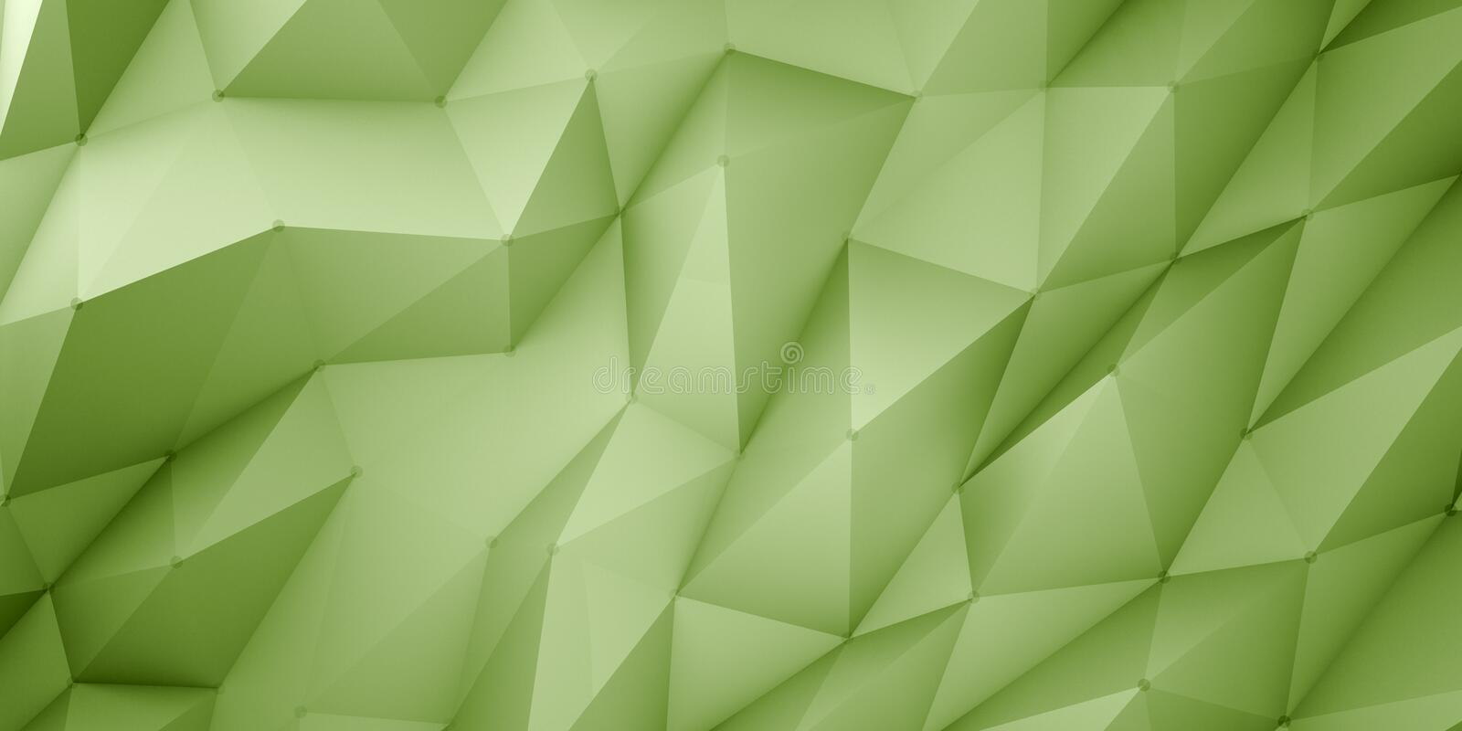 Green polygonal background stock images