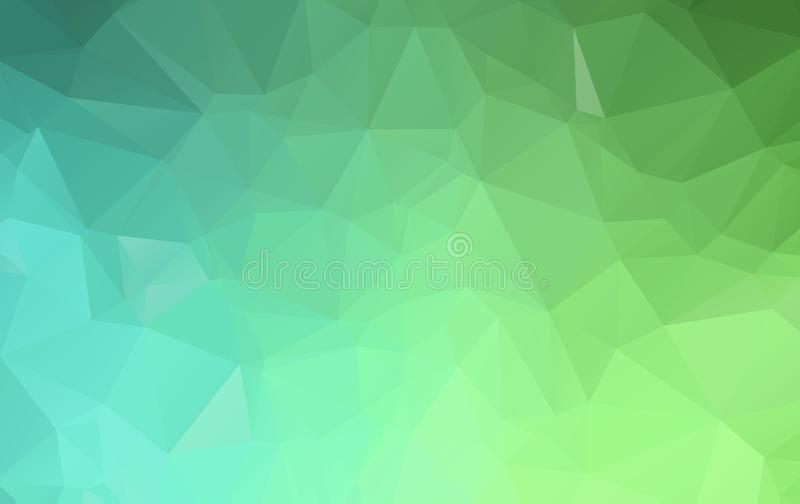 Green polygonal illustration, which consist of triangles. Geometric background in Origami style with gradient. Triangular design royalty free illustration