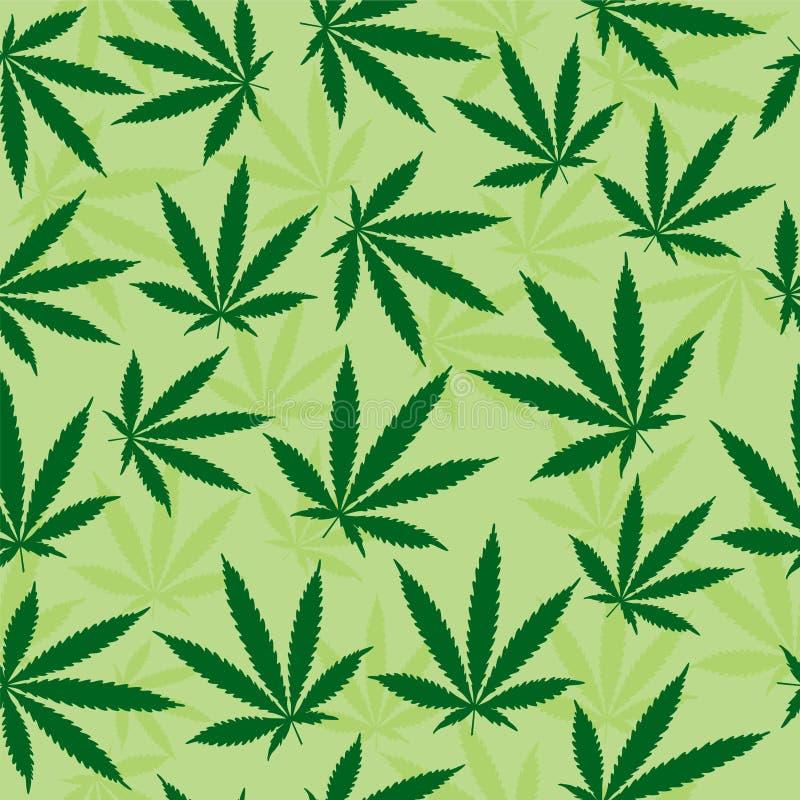 Green Pot Leaf Background. Repeating Green Pot Leaf Background vector illustration