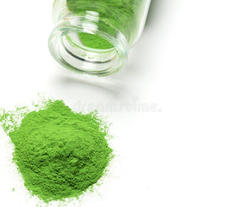 Green powder stock image