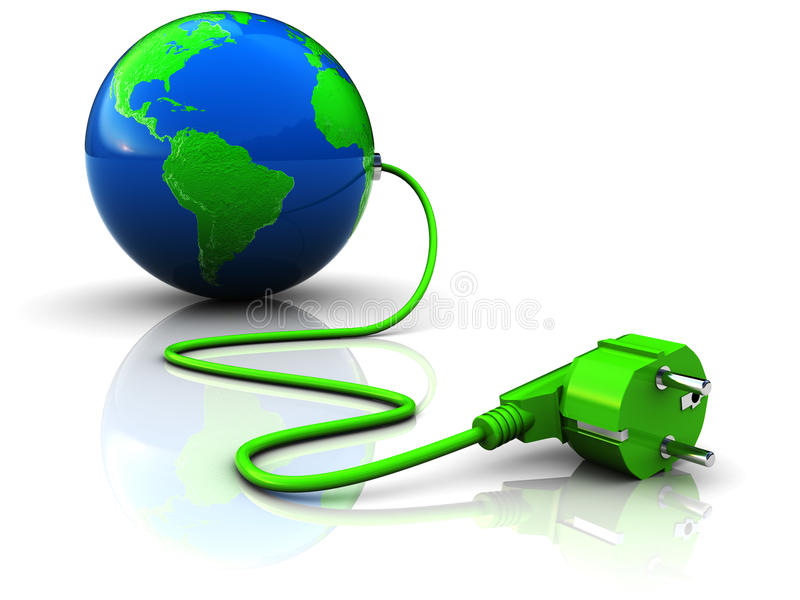 Download Green power stock illustration. Image of connection, equipment - 12877086