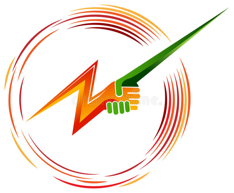 Green power. Concept design on a isolated white background vector illustration