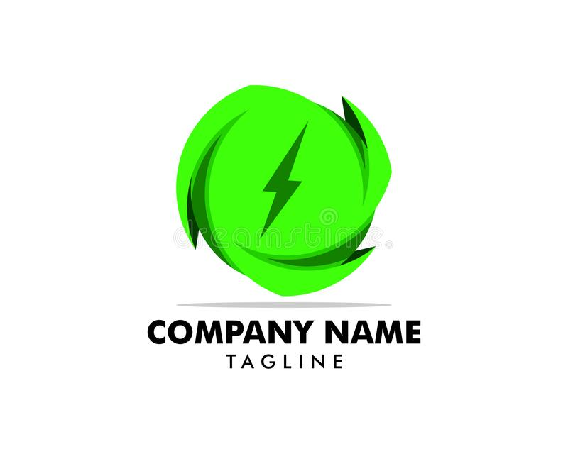 Green Power Energy Logo Design Element. Green Power Energy Logo royalty free illustration
