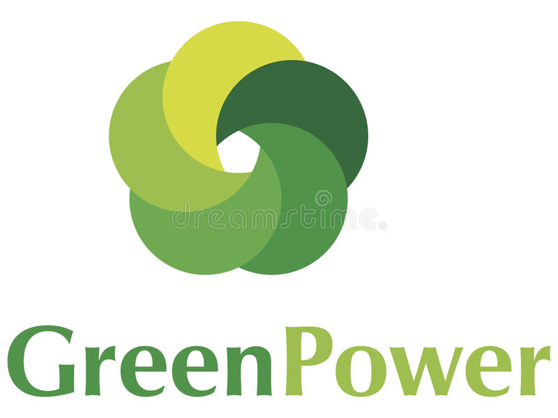 Green Power Logo Royalty Free Stock Photography
