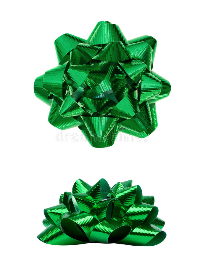 Green Present Holiday Bow stock image