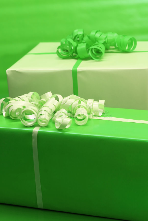 Green Presents stock images