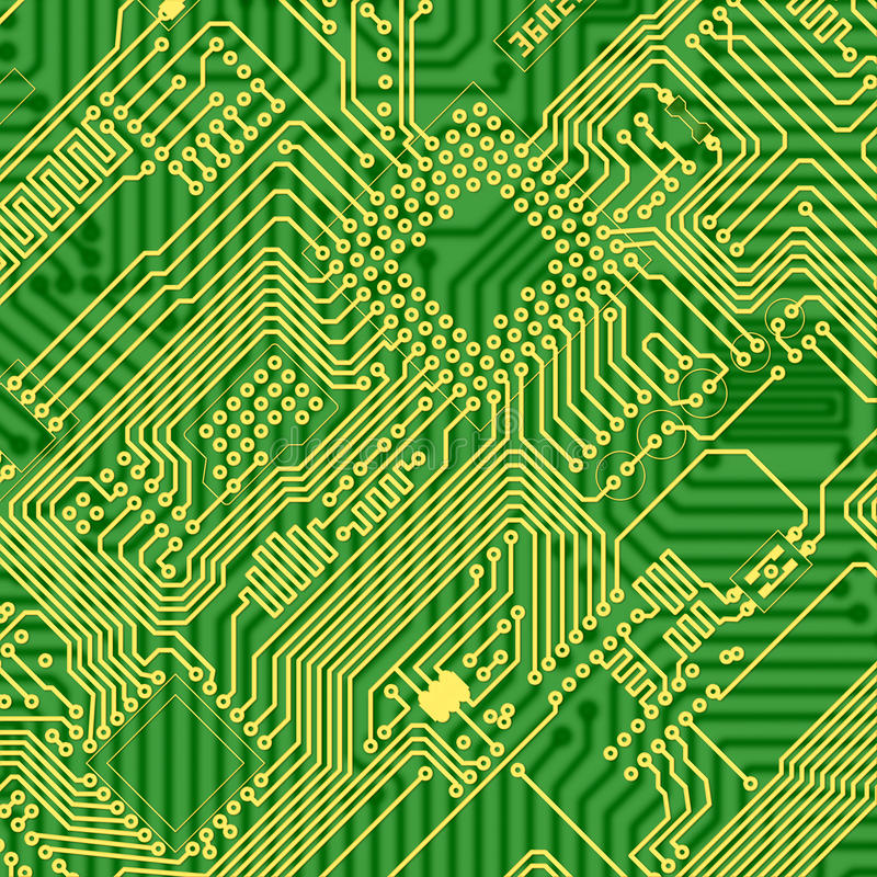 Green Printed Industrial Circuit Board Texture Stock Illustration ...