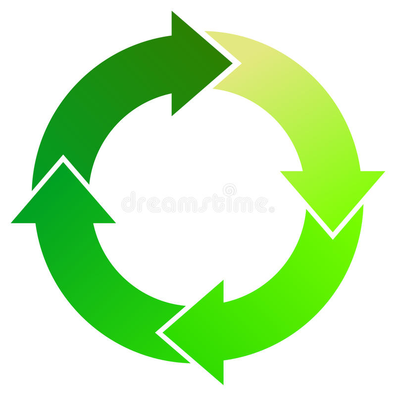 Download Green Process Arrows stock vector. Image of flow, cycle - 13691542