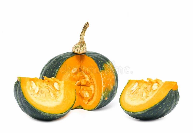 Green pumpkin stock image