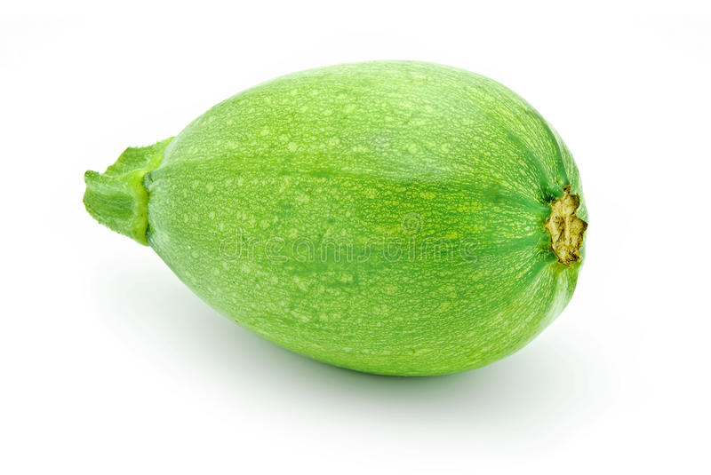 Green pumpkin. Isolated on white stock photo
