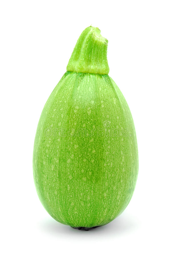 Green pumpkin. Isolated on white royalty free stock photography