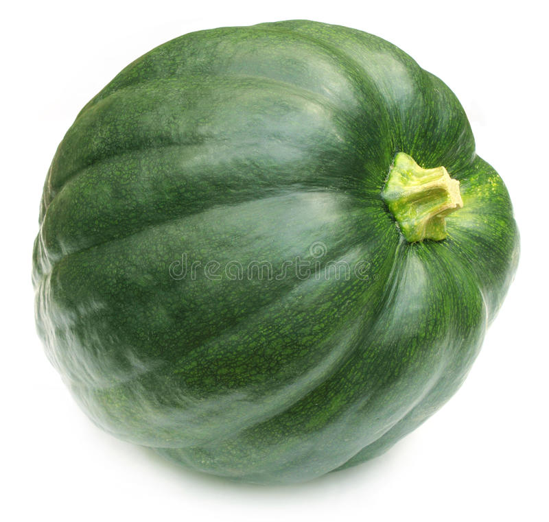 Green pumpkin. Isolated over white background stock photography