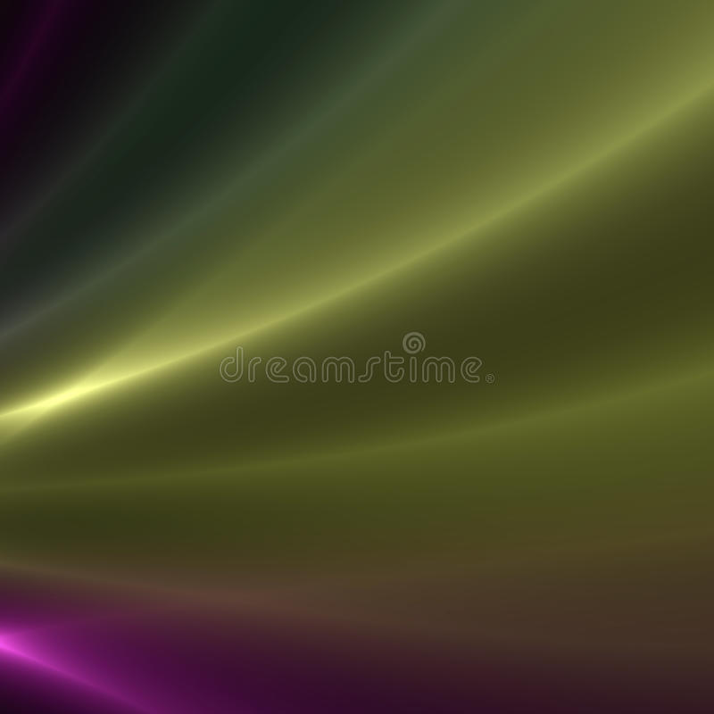 Green and Purple streaks of light. Green and purple flowing light streaks background stock illustration