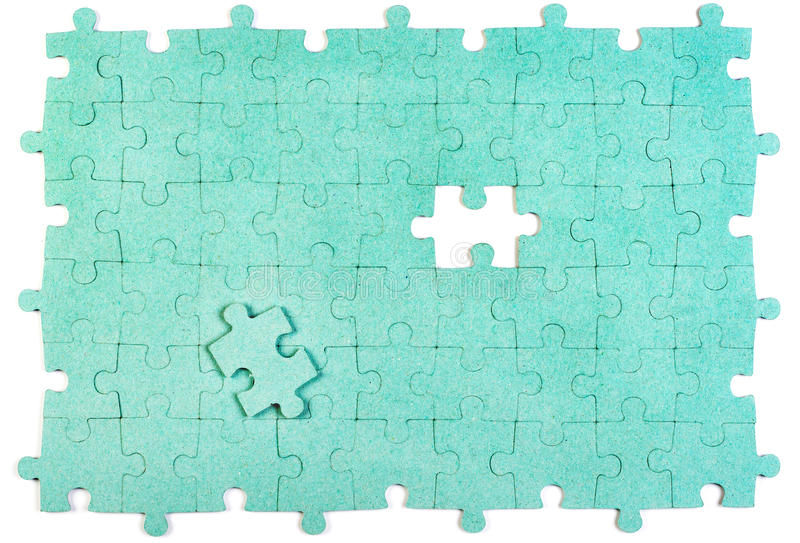 Green puzzle royalty free stock image