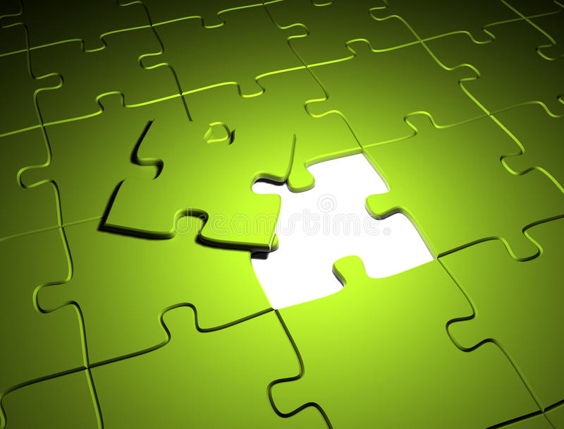 Download Green puzzle stock illustration. Illustration of illustration - 23081562
