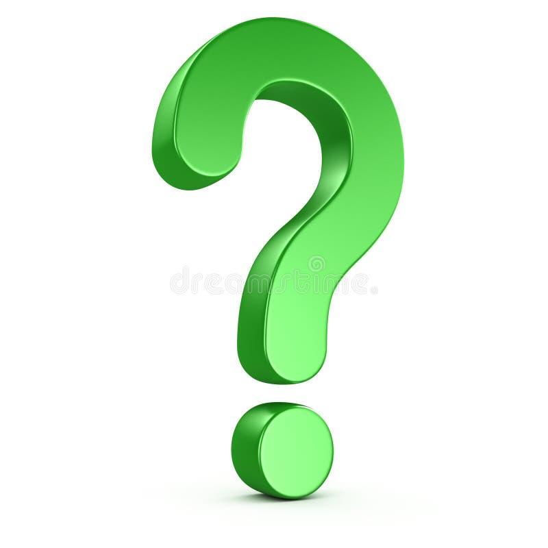 Green question mark vector illustration