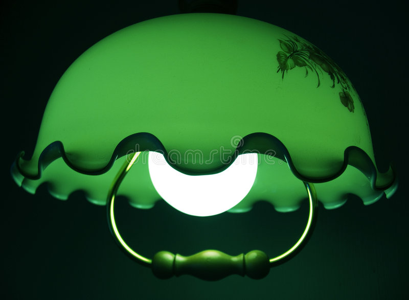 Green Quiet Light Of A Lamp Stock Photography
