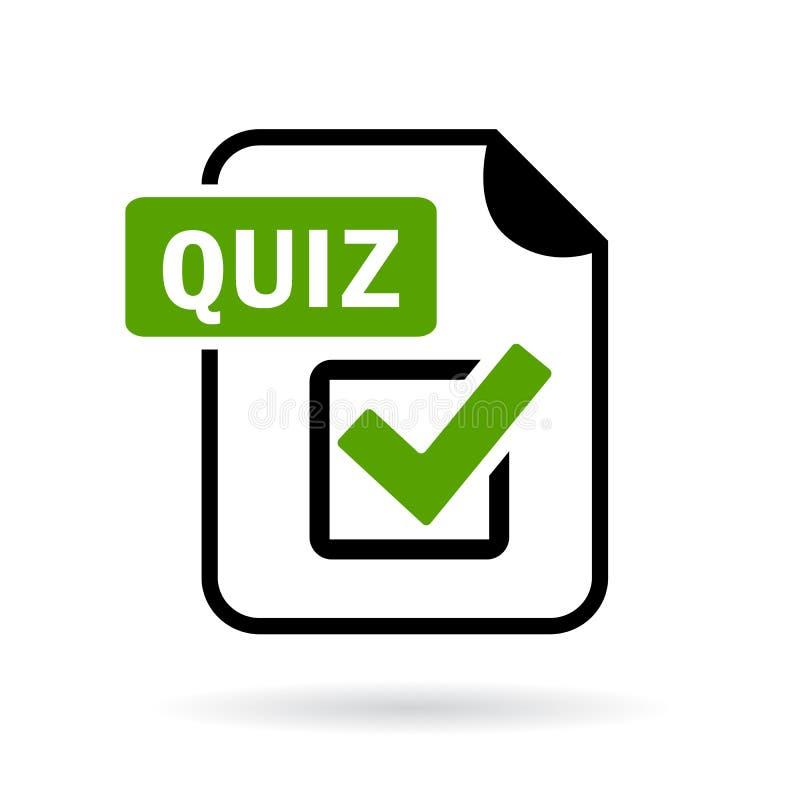 Green quiz icon stock illustration