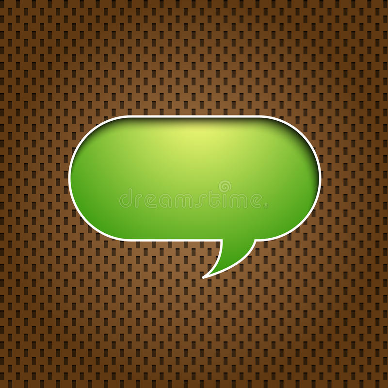 Green quote speech bubble royalty free illustration