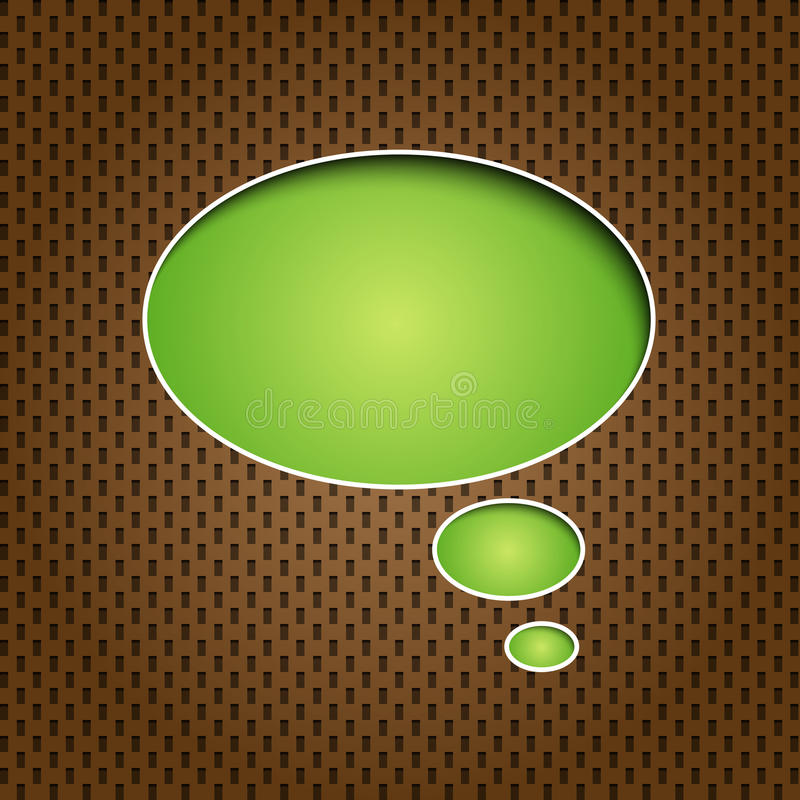 Green quote speech bubble vector illustration