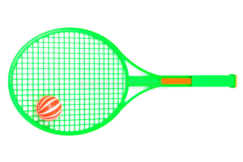 Green racket and ball royalty free stock photo