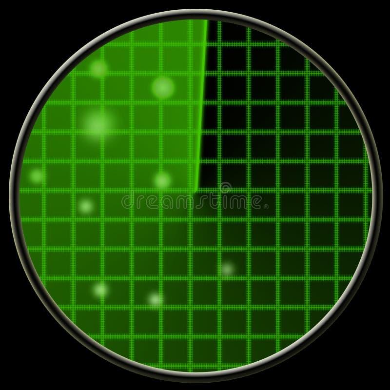 Green radar vector illustration