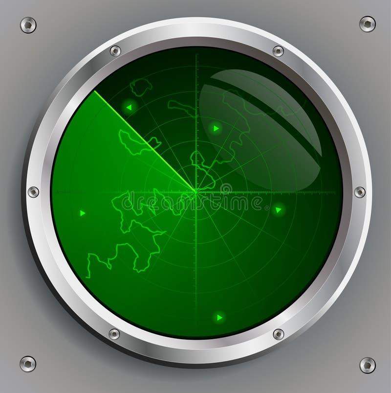 Green radar screen royalty free illustration