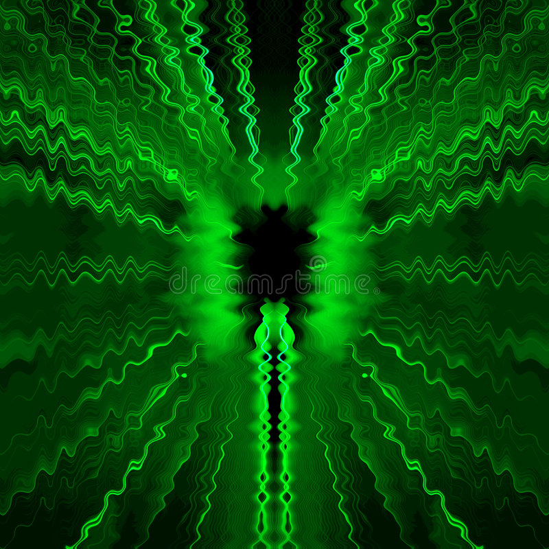 Green radio waves vector illustration