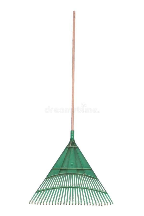 Green rake royalty free stock photos