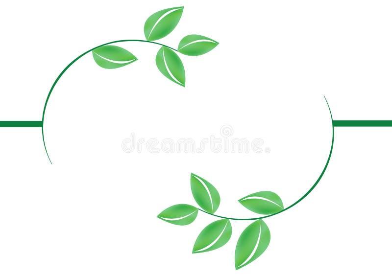 green ramowej leafs wektora ilustracja wektor