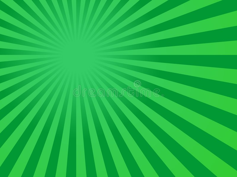 Green Rays Background Royalty Free Stock Photos