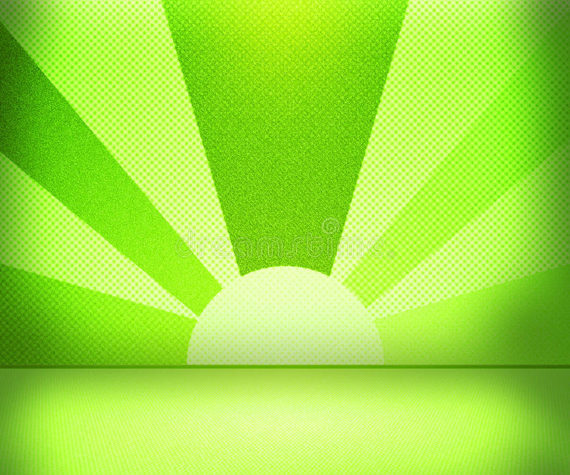 Green Rays Room stock illustration