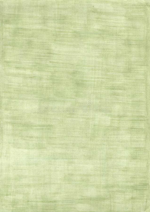 Green rectangle sheet of paper colored with pencil stock photo