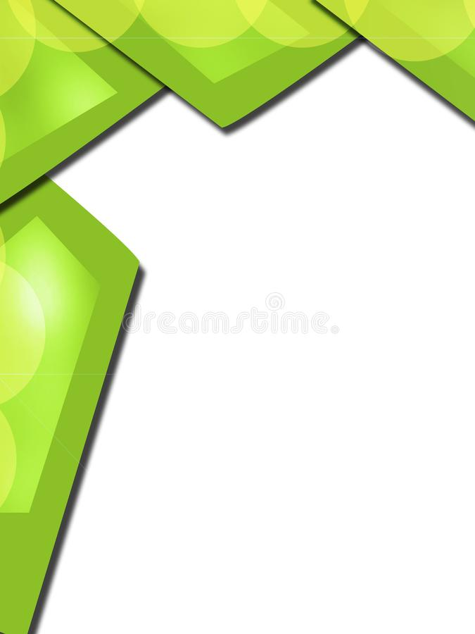 Green rectangular shape overlap abstract background. Vertical creative background stock illustration