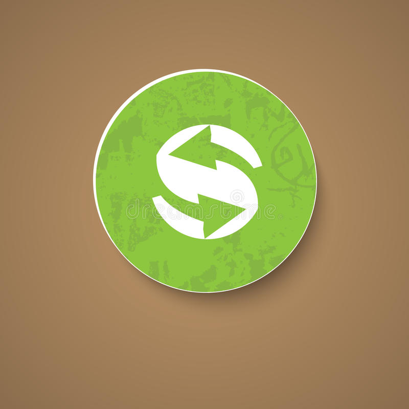 Green recycle icon vector illustration