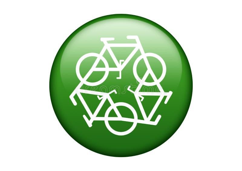 Green Recycle Symbol royalty free stock photos