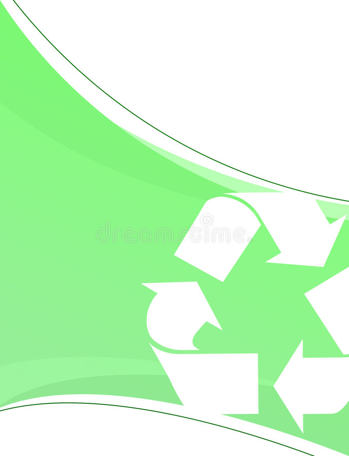 Green Recycling Layout Royalty Free Stock Photo