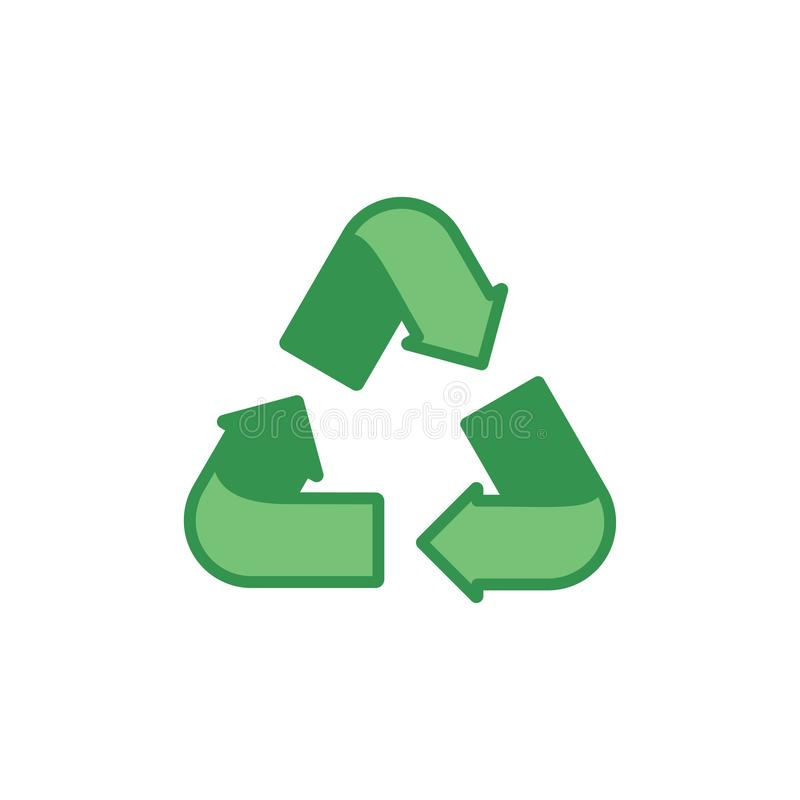 Green recycling sign on a white background. Ecology, environment. Vector illustration vector illustration