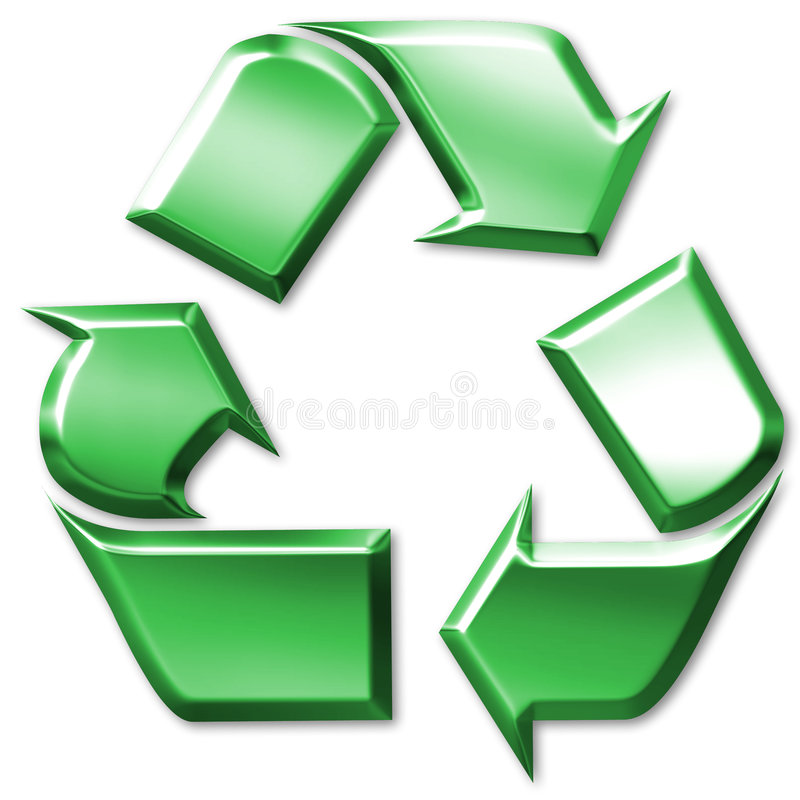 Download Green Recycling Symbol Royalty Free Stock Images - Image: 3301569